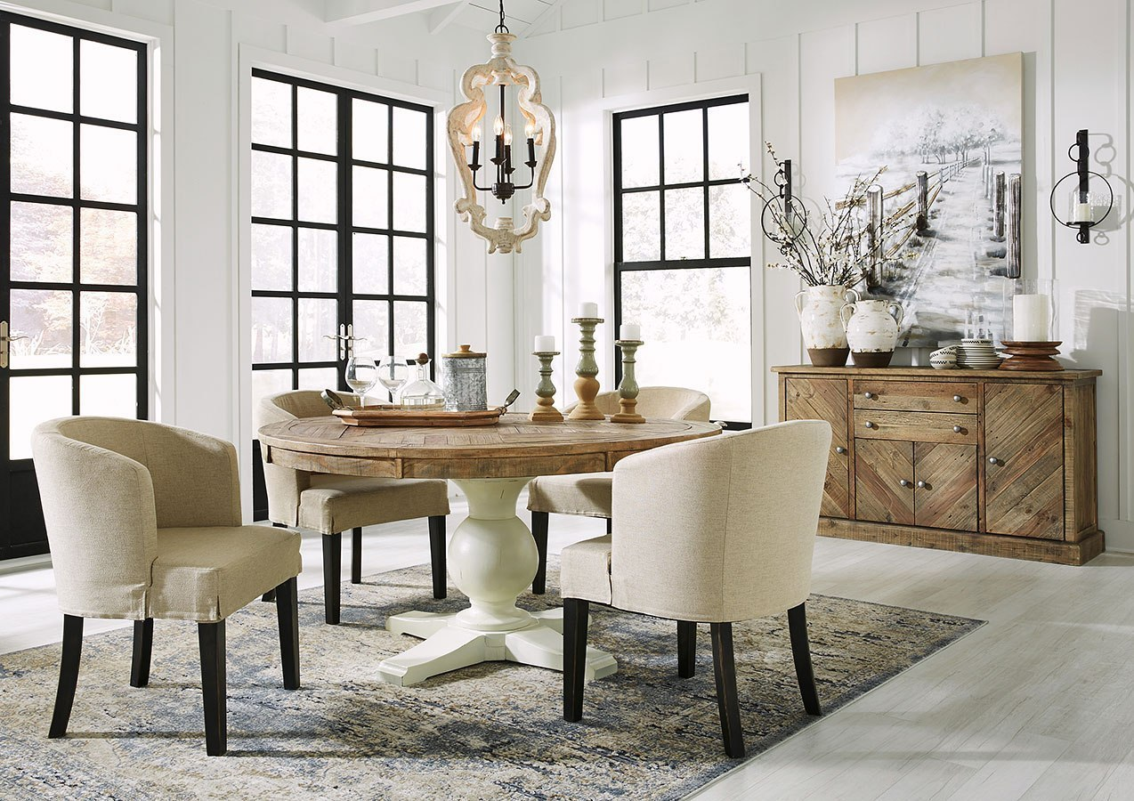 Phenomenal Grindleburg Round Dining Room Set W Low Back Chairs Beatyapartments Chair Design Images Beatyapartmentscom