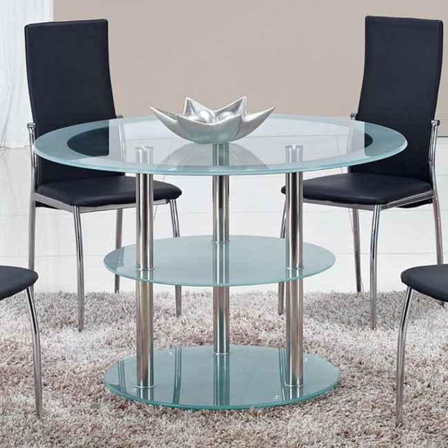 D79 Dining Room Set W/ Black Chairs By Global Furniture