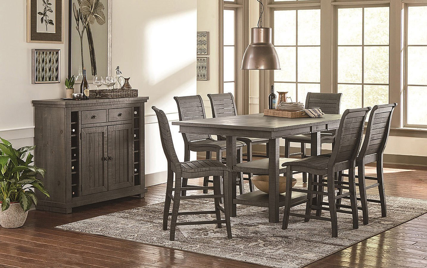 Willow Rectangular Counter Height Dining Set Distressed