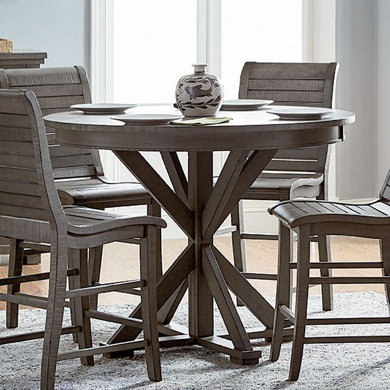 Remarkable Willow Round Counter Height Table Distressed Gray Gmtry Best Dining Table And Chair Ideas Images Gmtryco
