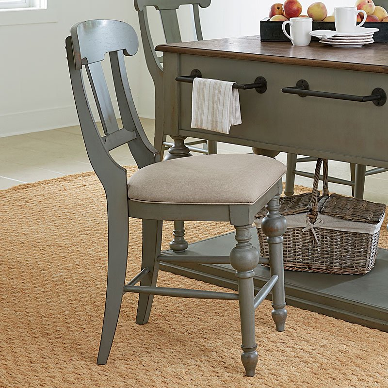 Colonnades Slat Counter Chair (Set Of 2) By Progressive Furniture
