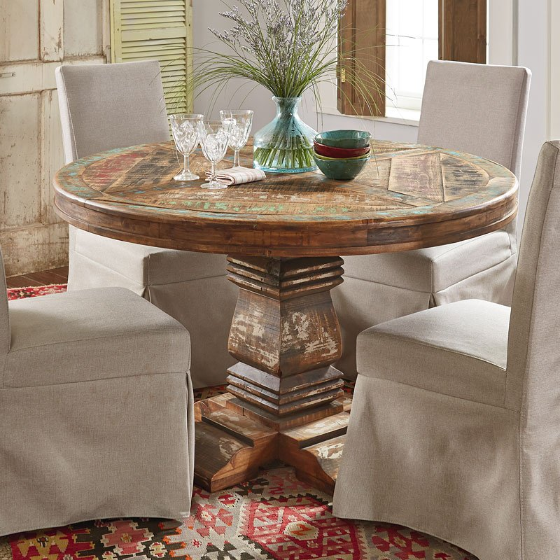 Cabana Round Dining Room Set W Muses Chairs By
