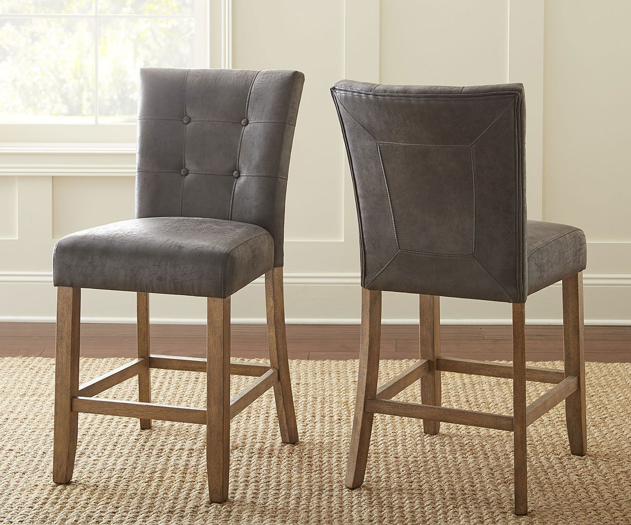 Debby Counter Height Chair (Grey) (Set Of 2) By Steve Silver Furniture