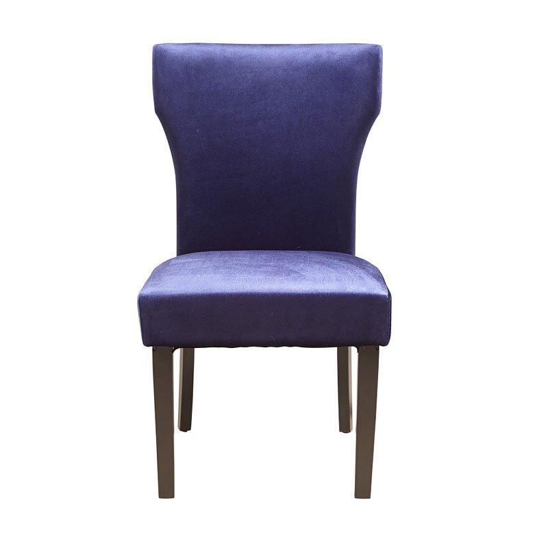 Purple Kitchen Chairs: Purple Greek Key Back Dining Chair