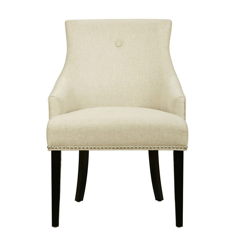 Exceptionnel Button Back Dining Chair (Hemp)