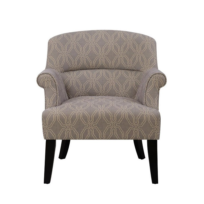 Small Space Roll Arm Grey Accent Chair by Accentrics Home ...