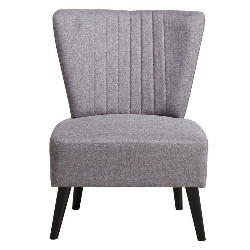 Purple Channeled Armless Accent Chair