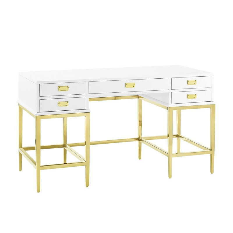 debd5372c65 Stainless Steel and Antique Glass Accent Desk by Pulaski Furniture ...