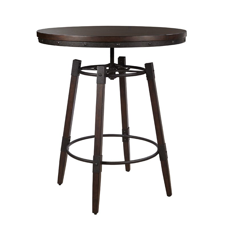 Industrial Adjustable Height Bar Table By Pulaski Furniture