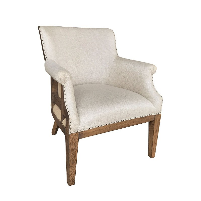 Modern Authentic Deconstructed Arm Chair Linen By