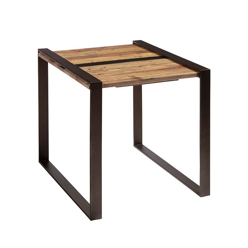 Small Space Reclaimed Wood And Metal End Table By Accentrics Home