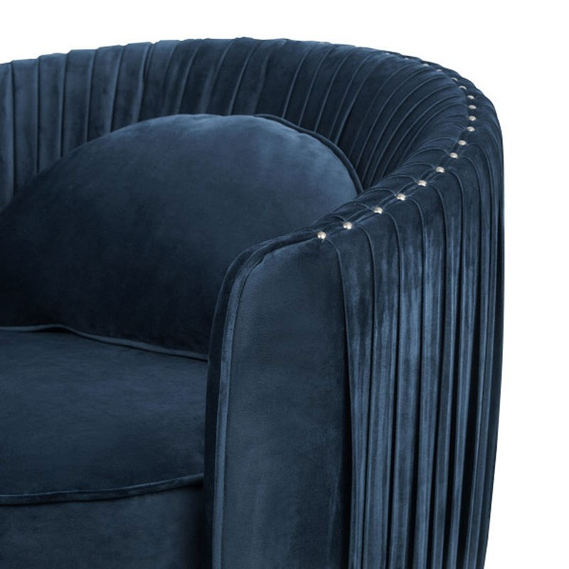 Small Space Deep Navy Blue Accent Chair By Accentrics Home