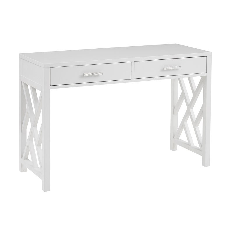 small space lattice work writing desk white by accentrics home furniturepick. Black Bedroom Furniture Sets. Home Design Ideas