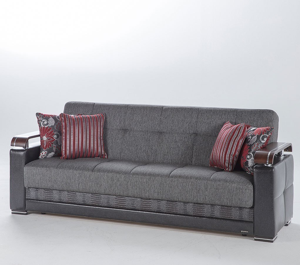 Ekol 3 Seat Sleeper Redeye Fume By Istikbal Furniture