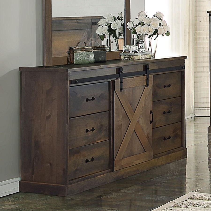 Barn Wood Bedroom Furniture: Farmhouse Panel Bedroom Set (Barnwood) By Legends