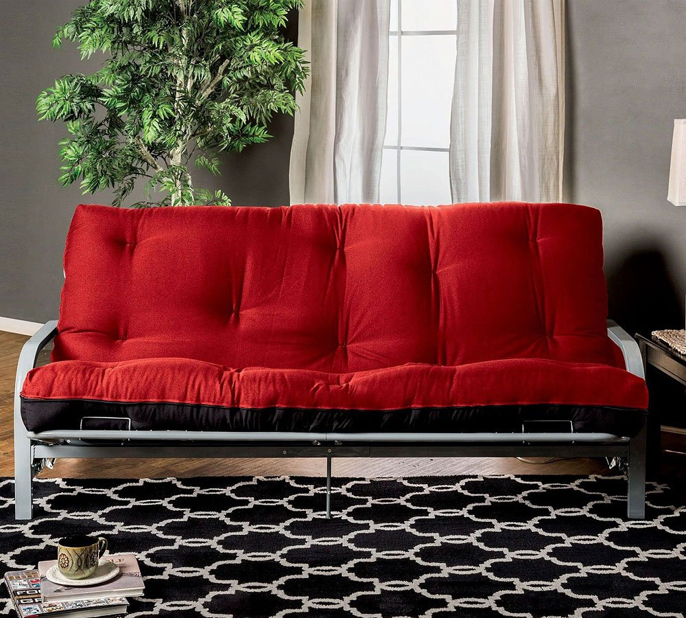 Knox Inch Red And Black Futon Mattress Inner Spring