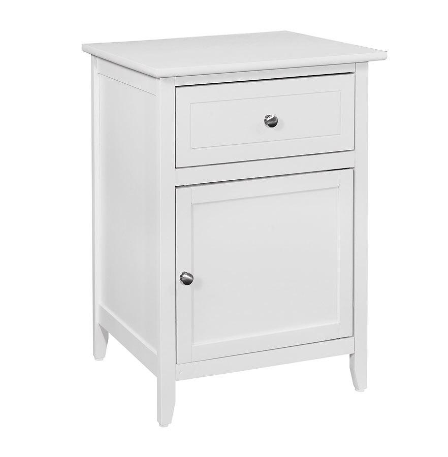 G1417 Drawer And Door Nightstand White