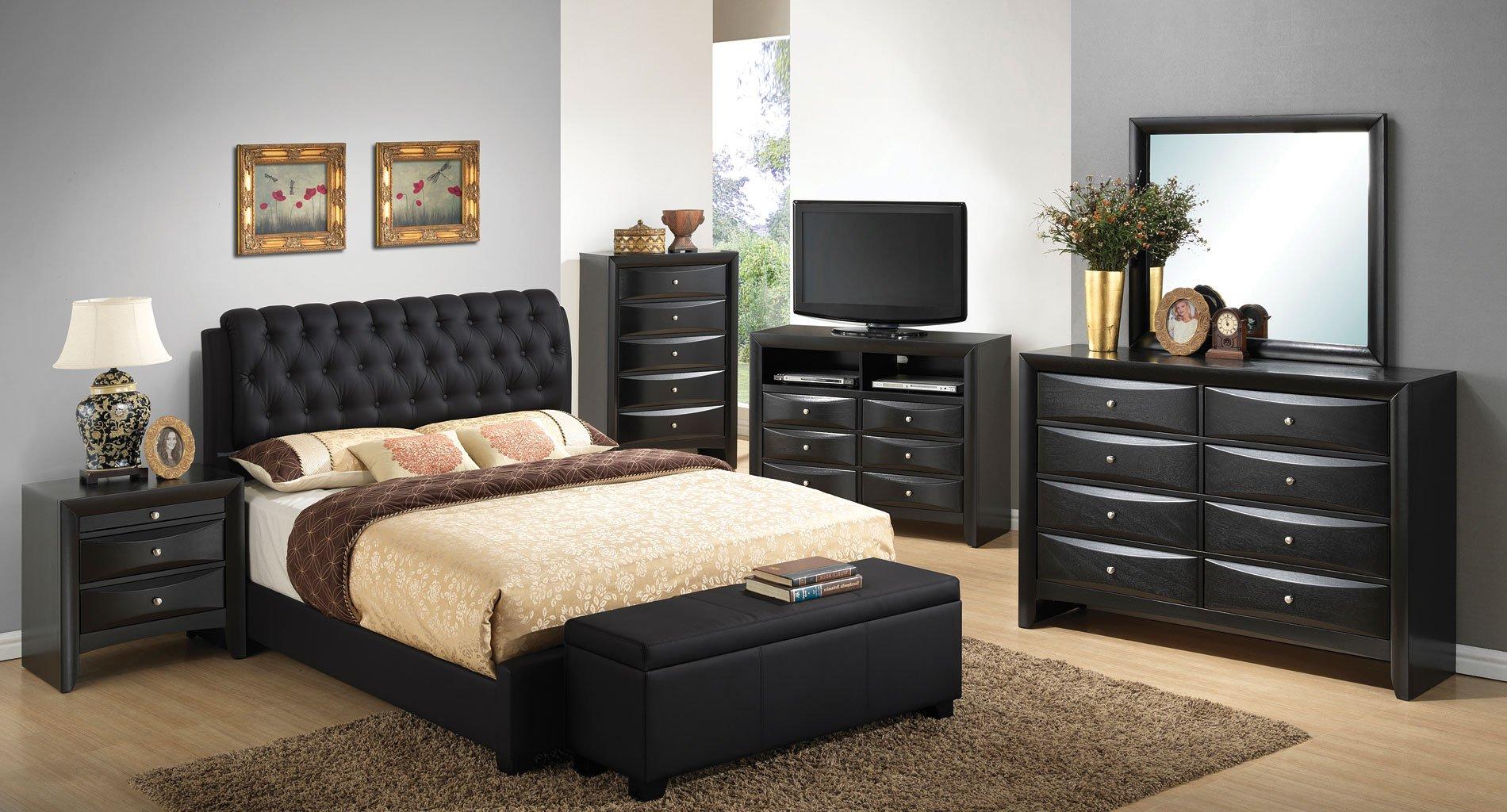 G1500 Upholstered Bedroom Set Bedroom Sets Bedroom Furniture Bedroom