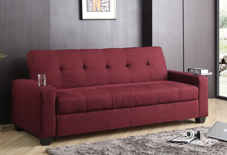 G181 Convertible Sofa Bed Cherry