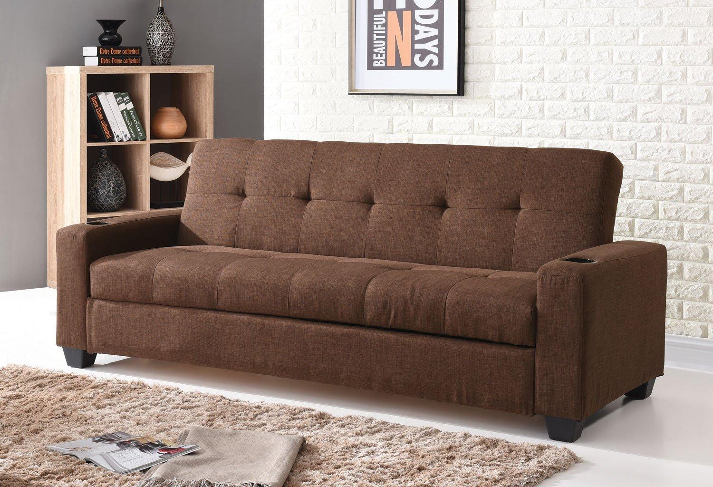 G182 Convertible Sofa Bed Brown