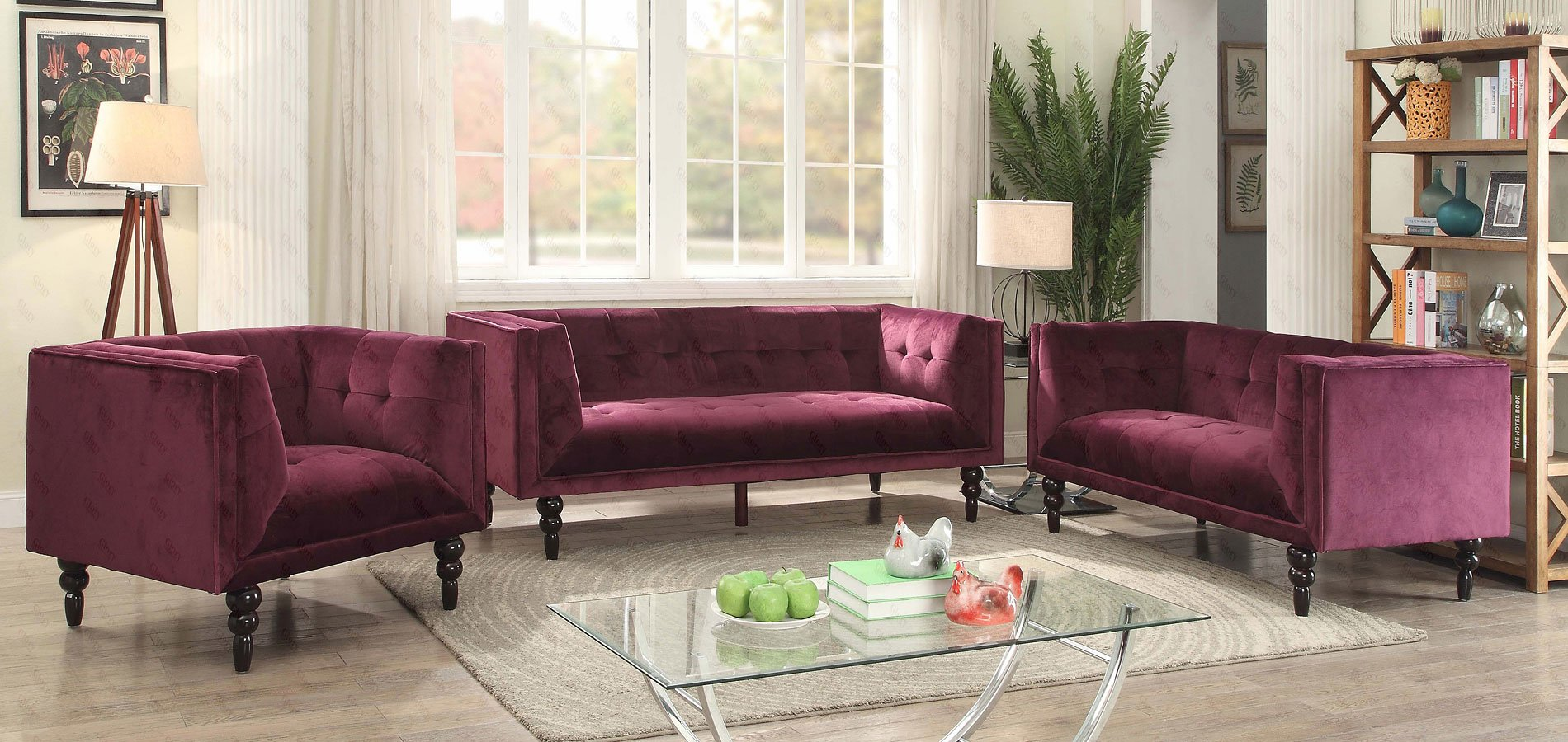 G233 Living Room Set (Purple)