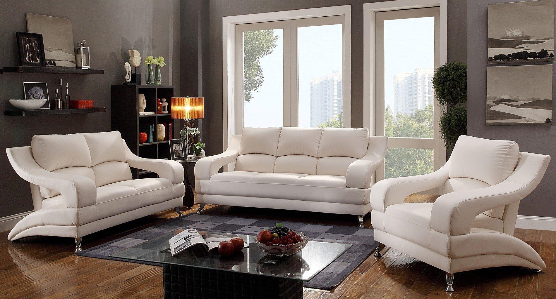G247 Modern Living Room Set (White) By Glory Furniture