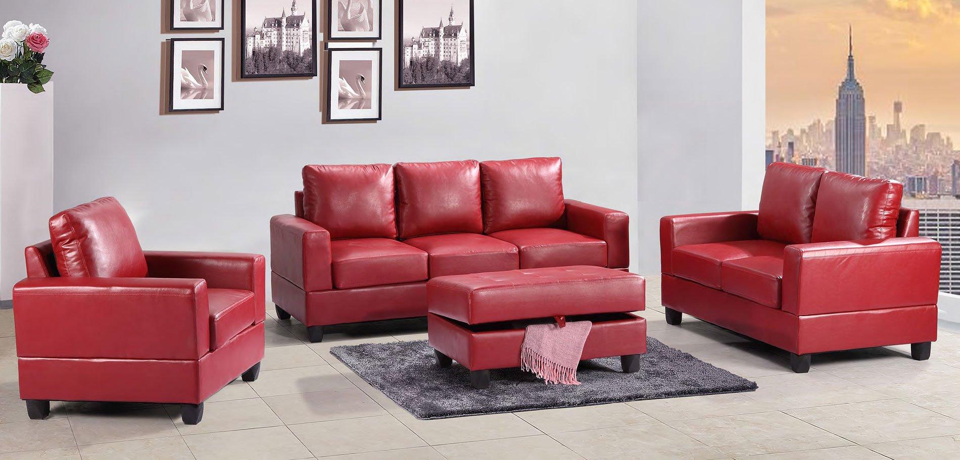 G309 Living Room Set Red Living Room Furniture Living