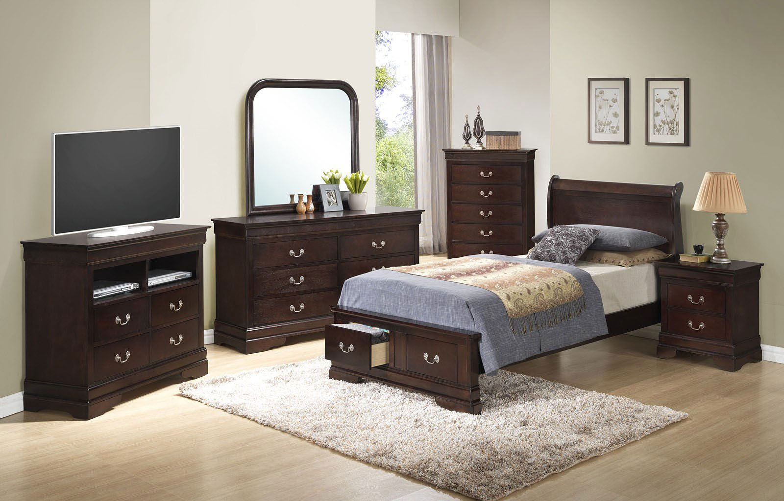 G3125 youth sleigh storage bedroom set by glory furniture - Youth bedroom furniture with storage ...