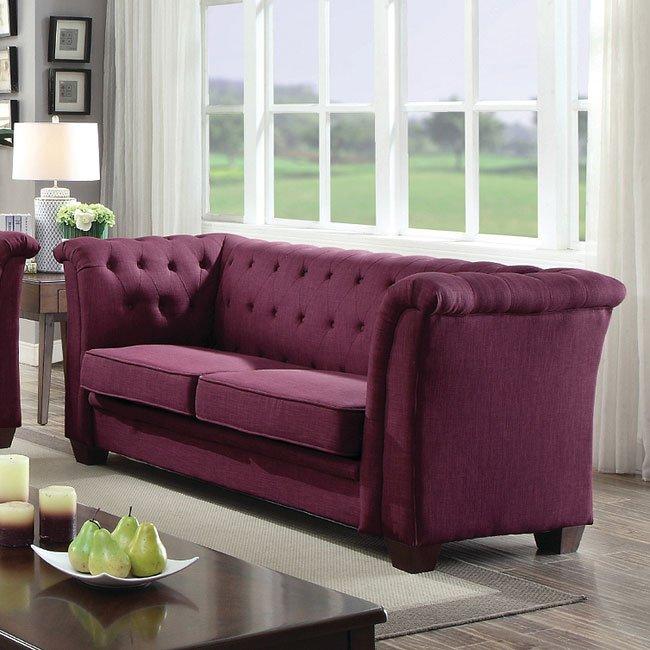 G326 Tufted Sofa Purple