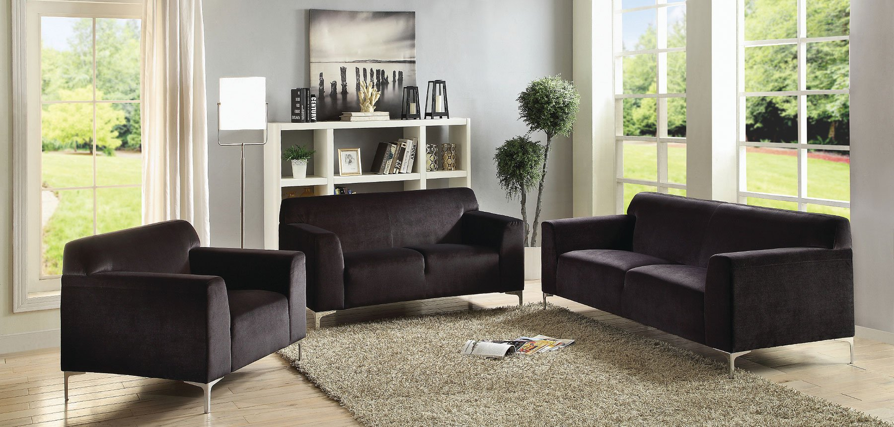 G331 Living Room Set Black By Glory Furniture
