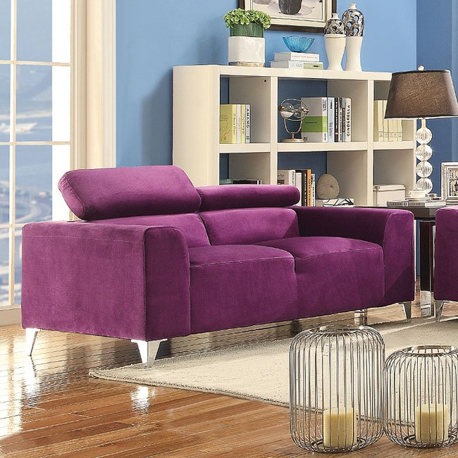 g335 living room set purple by glory furniture furniturepick. Black Bedroom Furniture Sets. Home Design Ideas