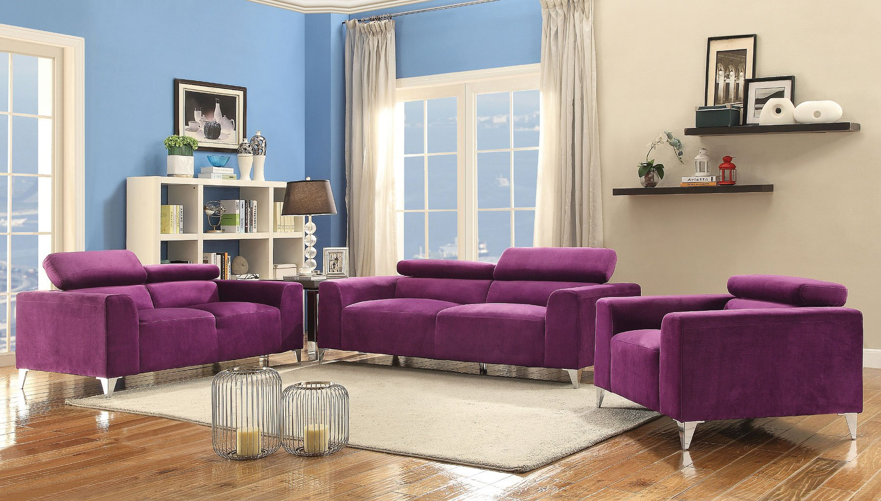 G335 Living Room Set (Purple)