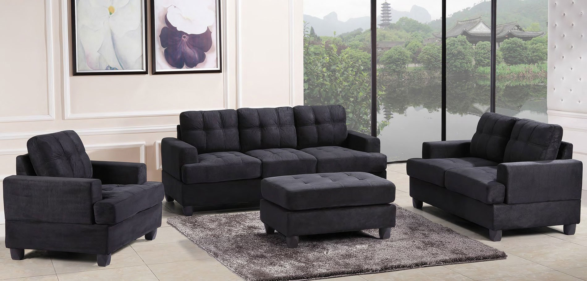 G515 Living Room Set (Black)