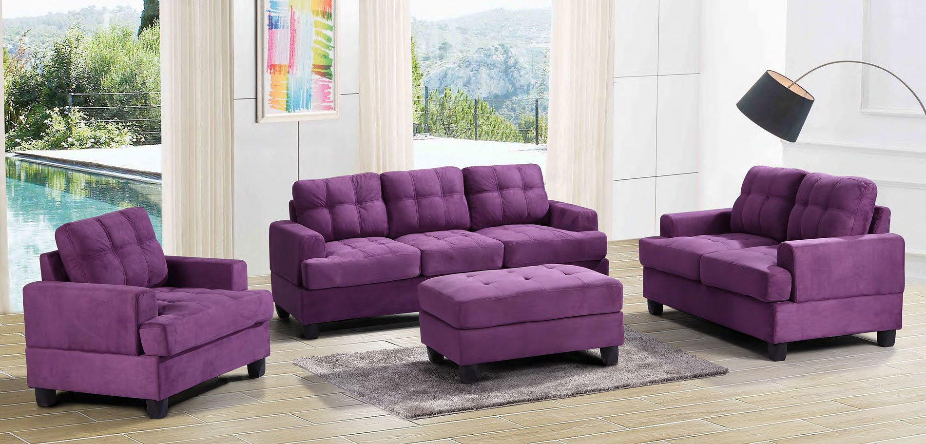 G517 Living Room Set (Purple)