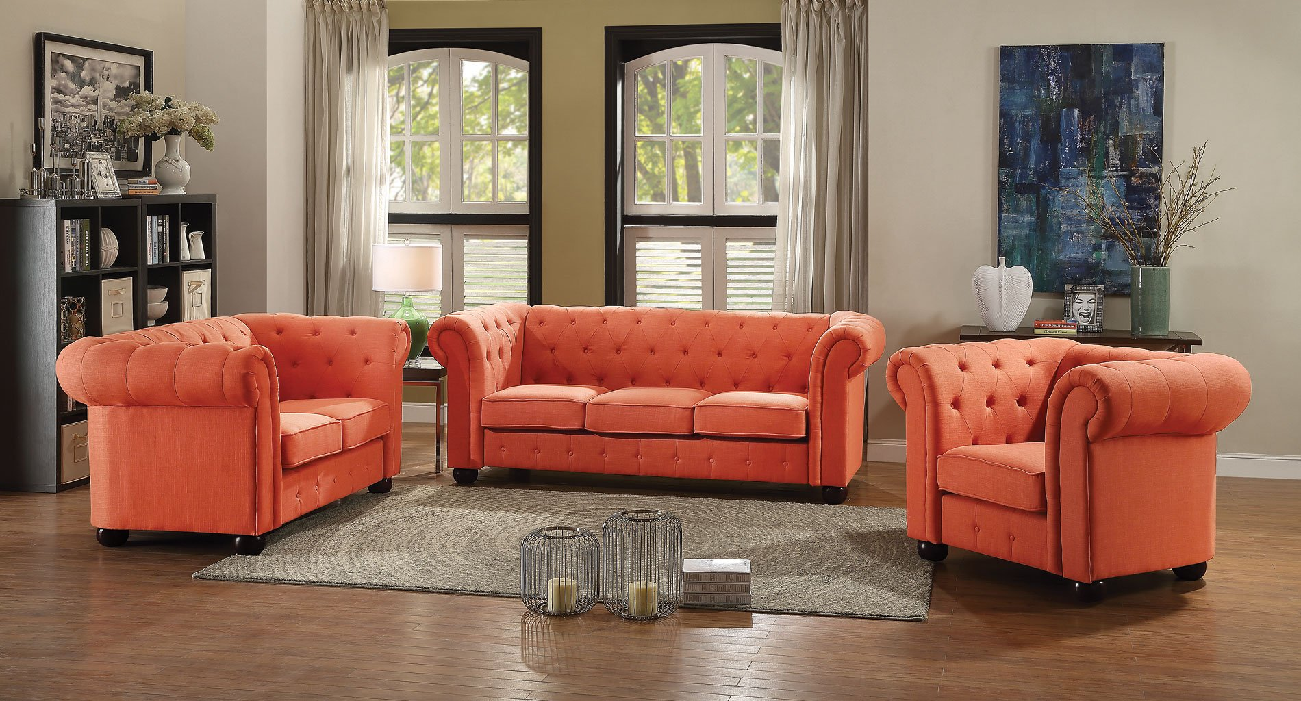orange living room chairs g520 tufted living room set orange living room sets 13244