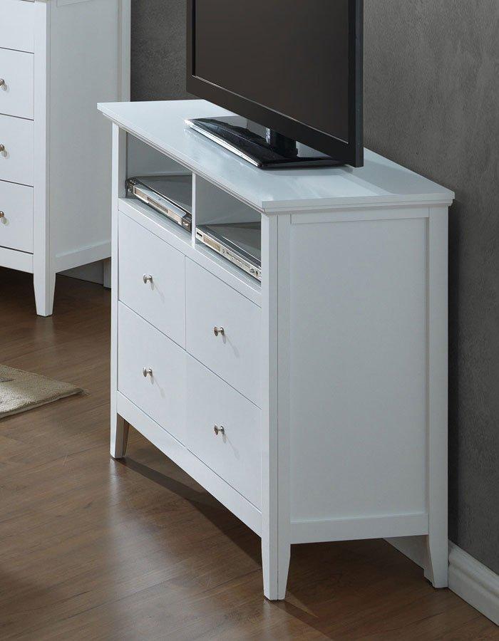 G5490 media chest white by glory furniture furniturepick for White media chest for bedroom