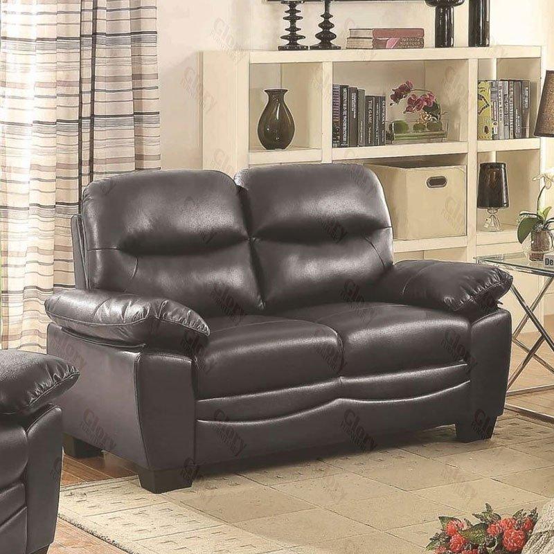 Living Room Furniture Sets Black: G677 Living Room Set (Black) By Glory Furniture