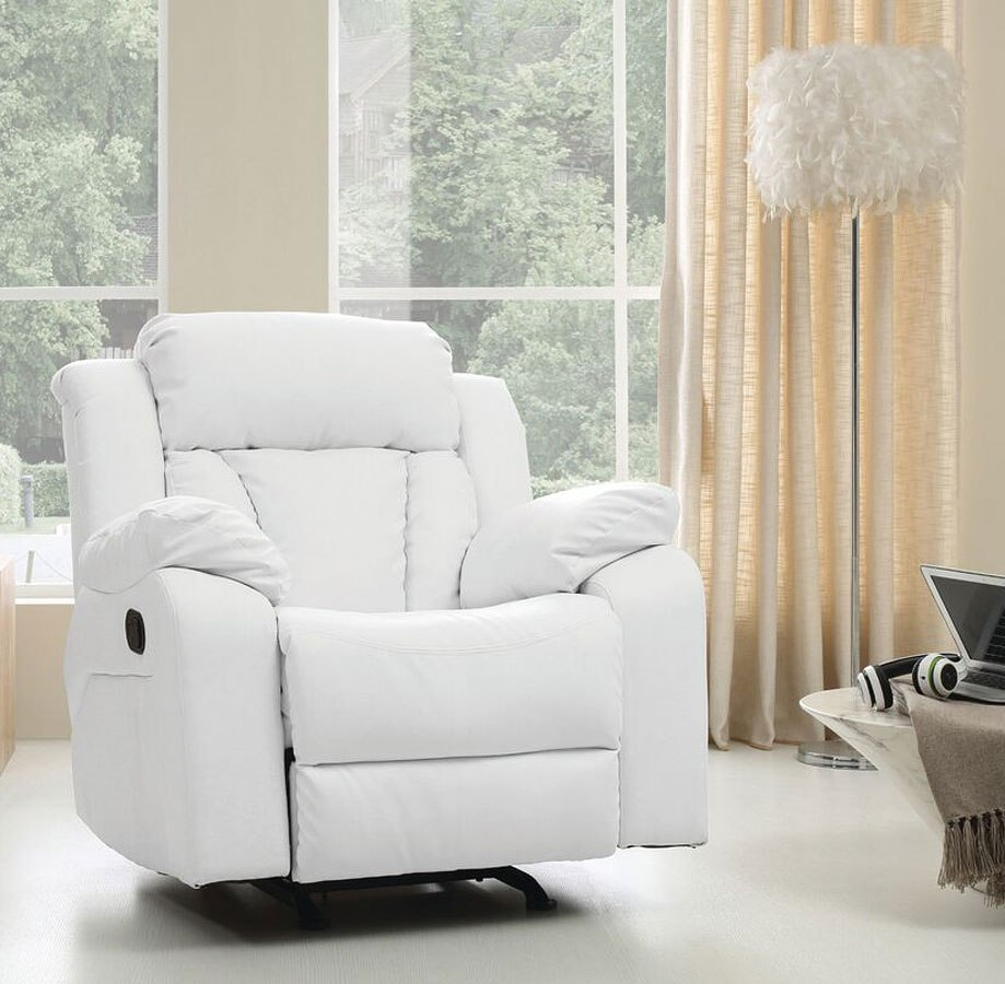 G682 Reclining Living Room Set White By Glory Furniture