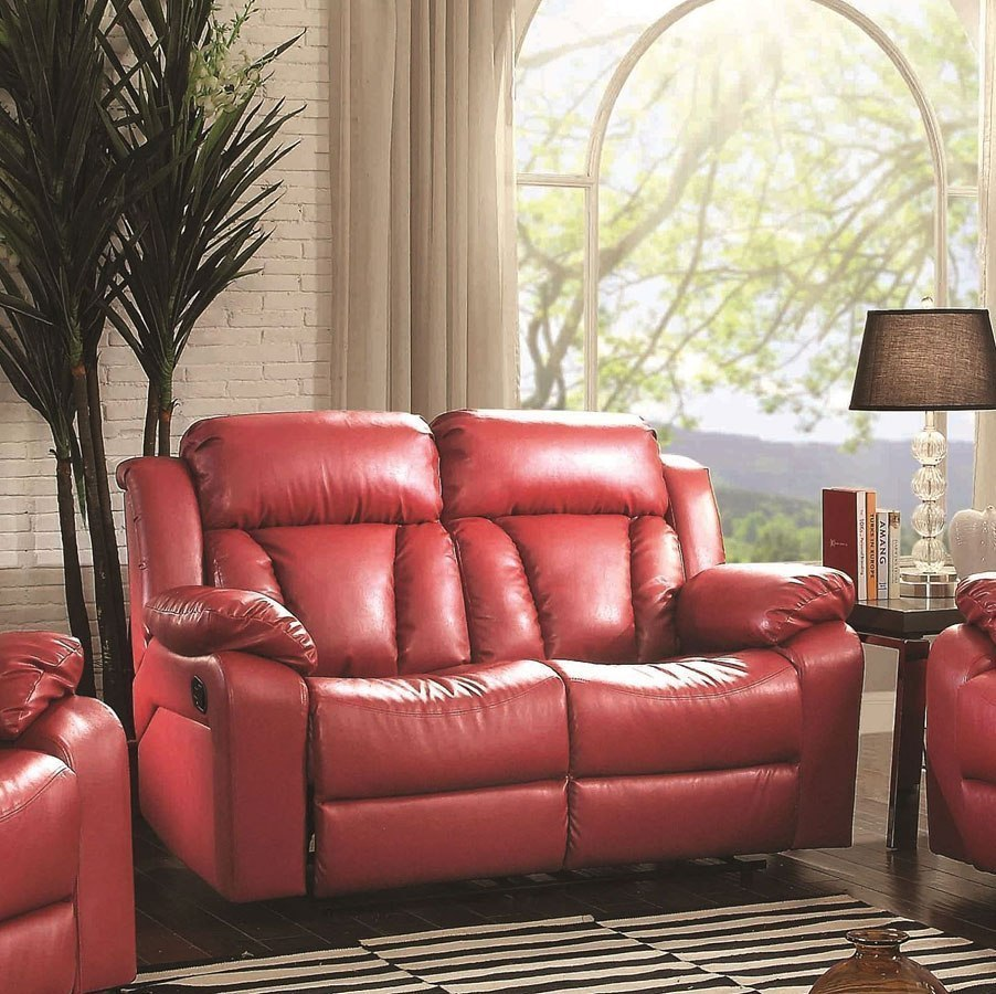 Tremendous G684 Reclining Loveseat Red Evergreenethics Interior Chair Design Evergreenethicsorg