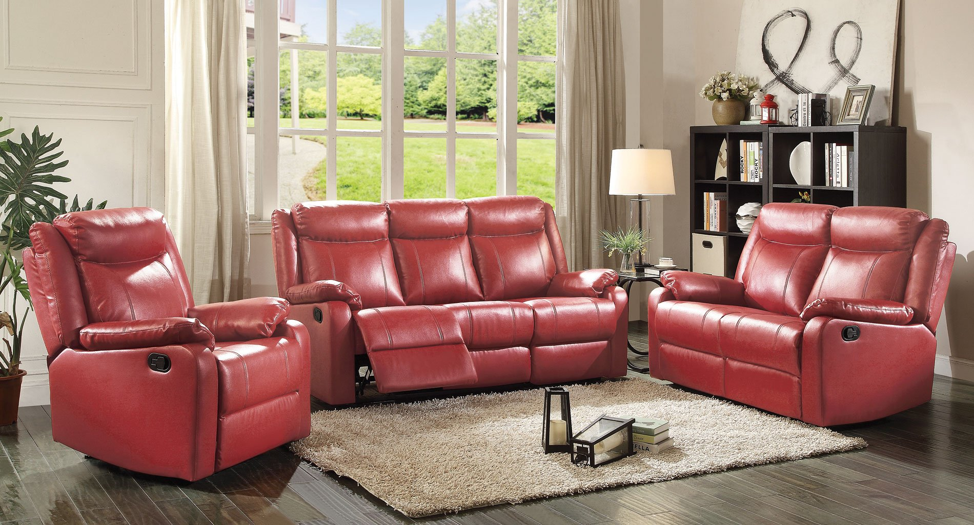 g765 reclining living room set red living room sets