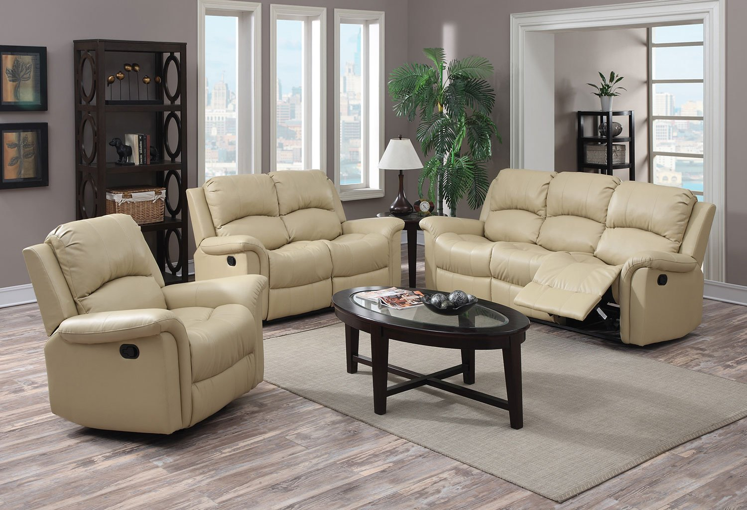 G795 Reclining Living Room Set Beige Living Room Sets