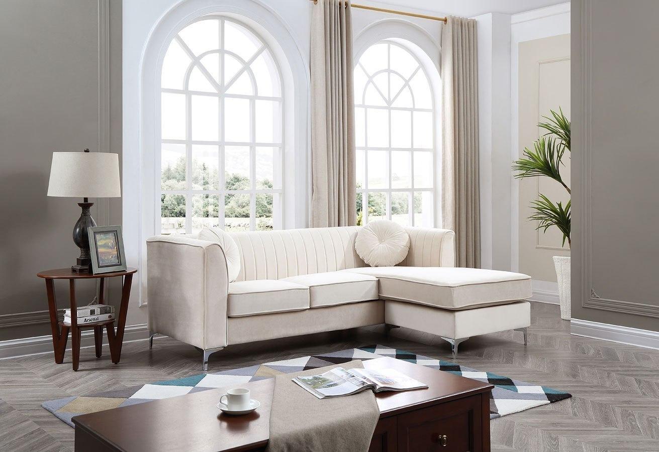Delray Living Room Set (Ivory) by Glory Furniture | FurniturePick