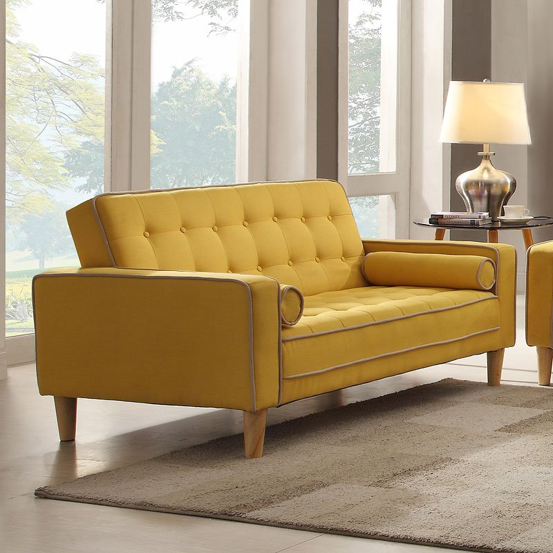 G834 Loveseat Bed Yellow Loveseats Living Room Furniture Living Room