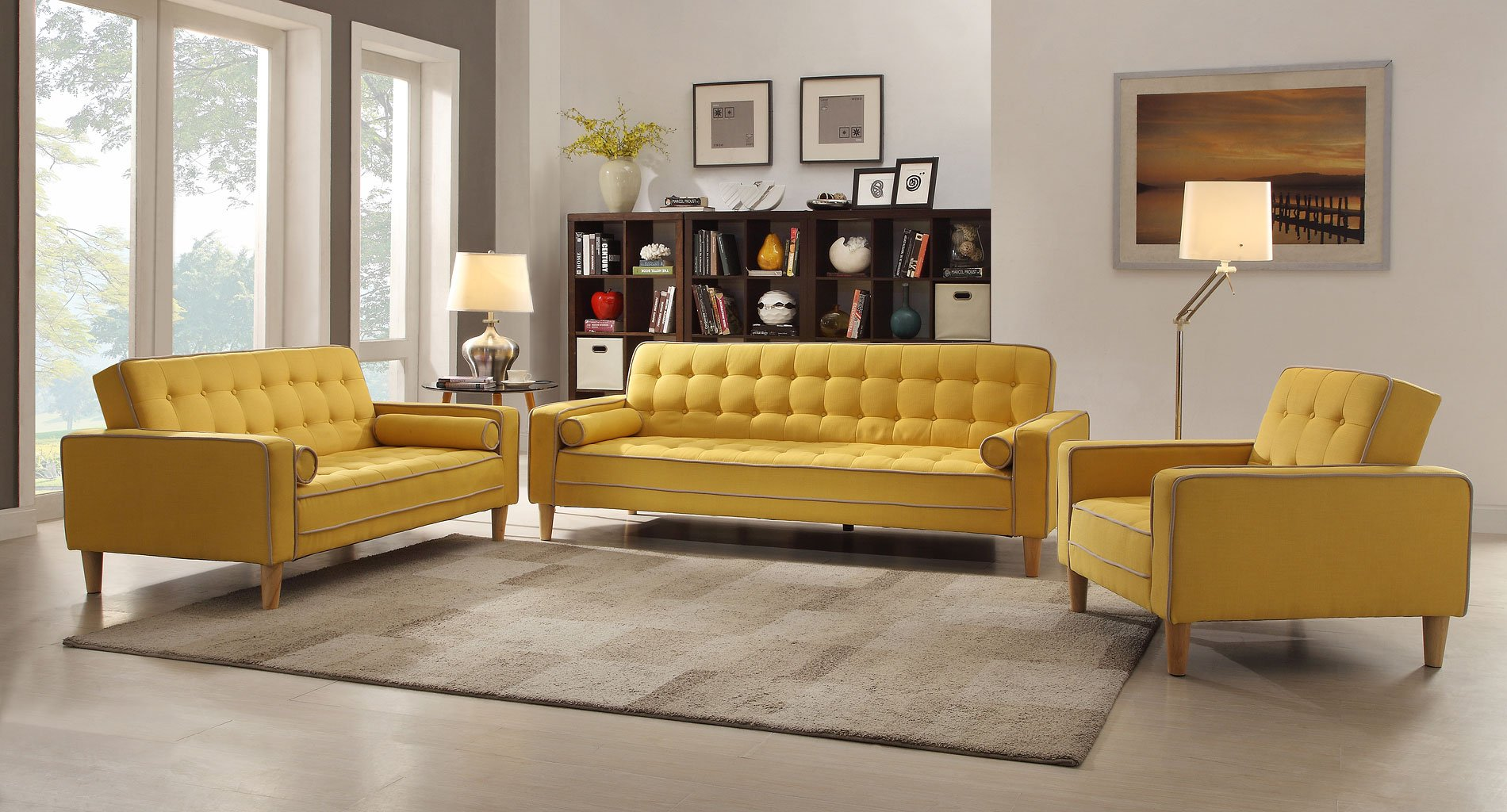 G834 Living Room Set Yellow