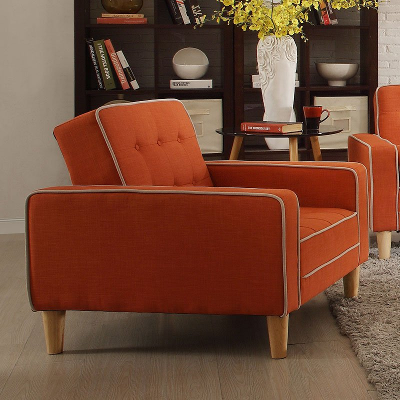G835 Chair Bed (Orange) - Chairs - Living Room Furniture ...