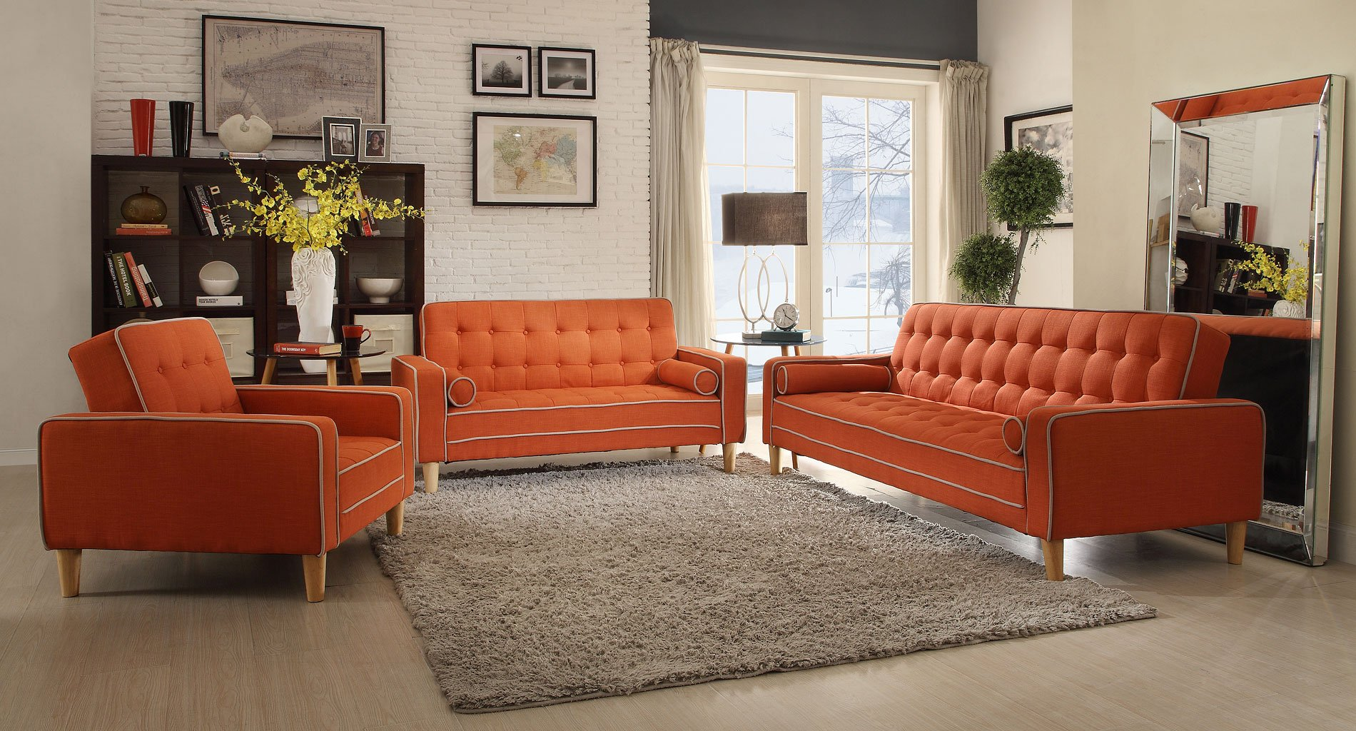 G835 Living Room Set (Orange)