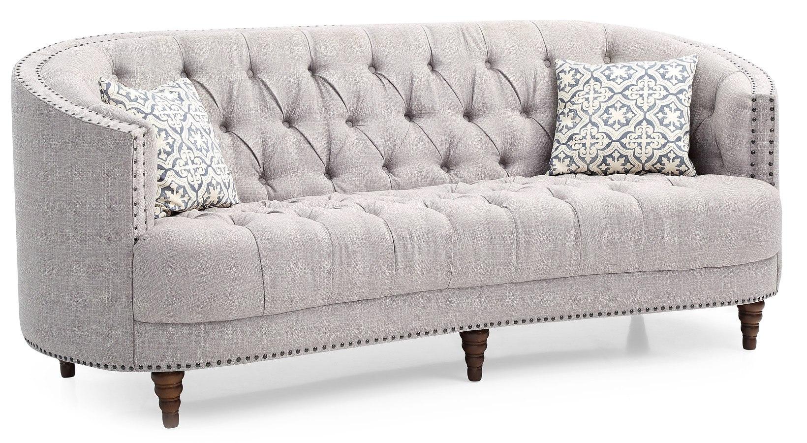 Charleston Sofa Light Gray By Glory Furniture