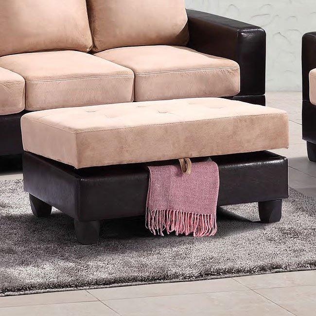 G908 Storage Ottoman Mocha By Glory Furniture