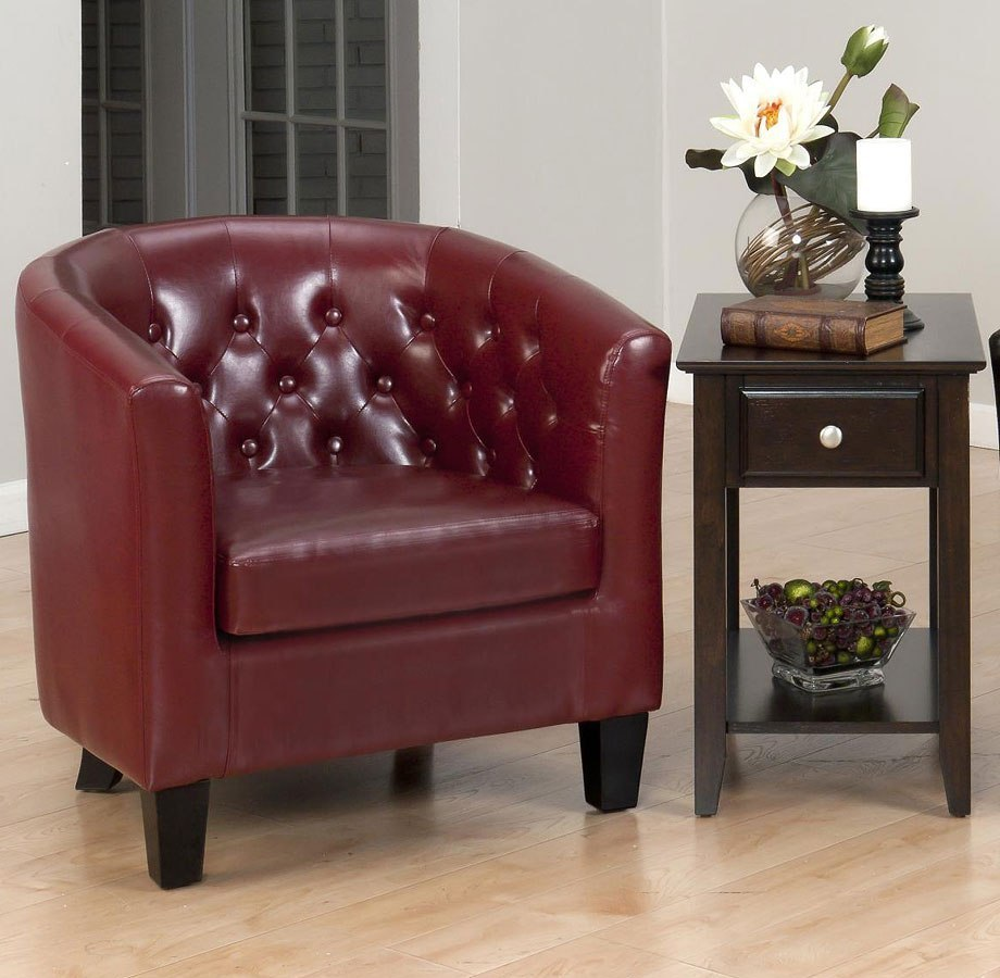 Gianni Club Accent Chair (Red)