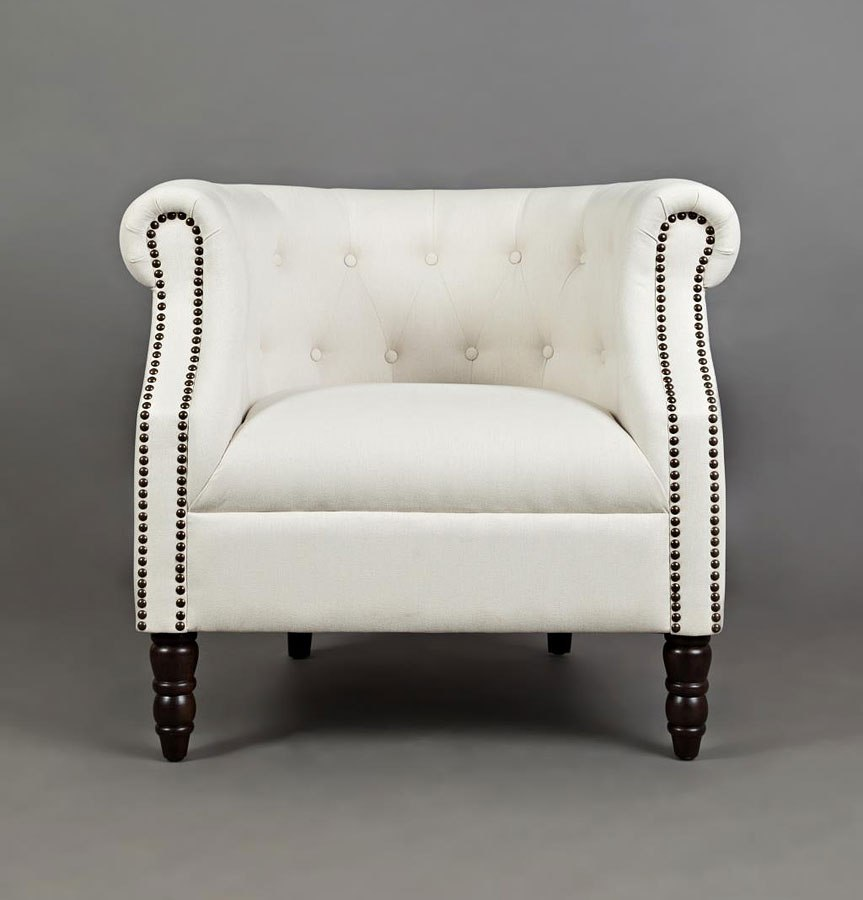 Grace Accent Chair Ivory By Jofran Furniture Furniturepick